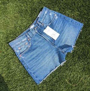 Zara hi-rise cutoff jean short NEW w/ tags
